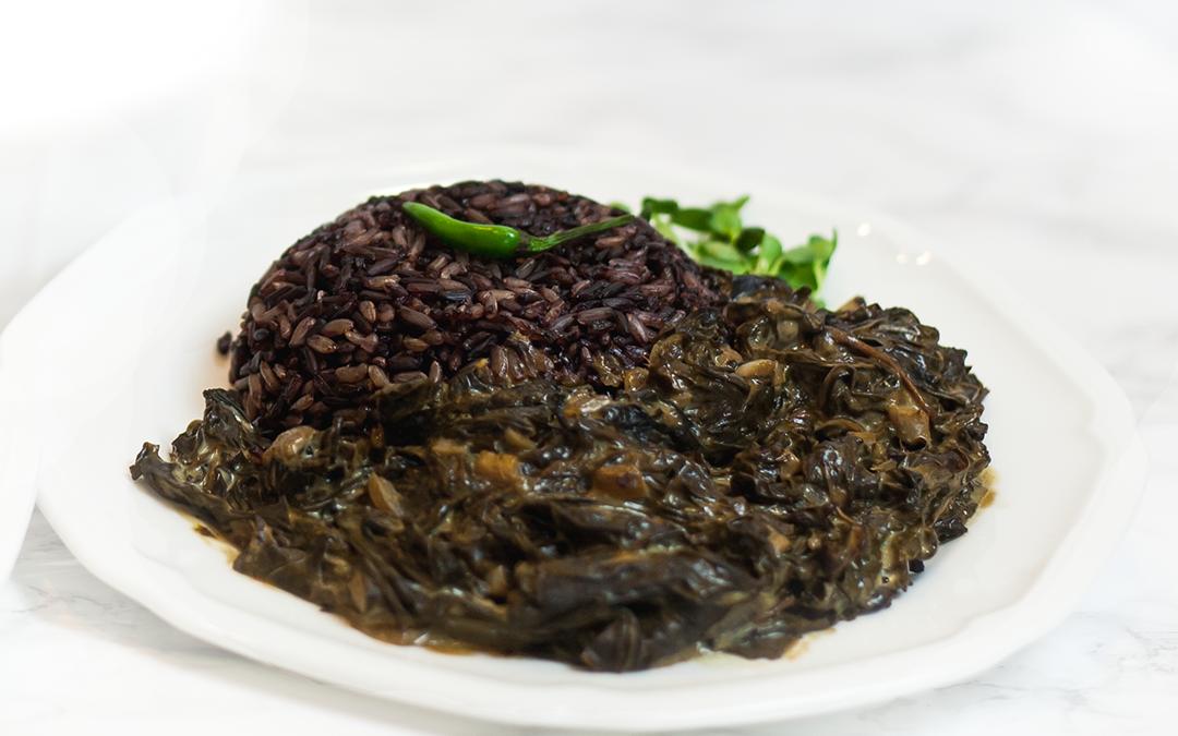 "Taro Leaf Coconut Curry: ""Laing"""